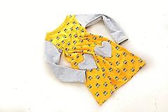 Detské oblečenie - Cool úpletové šaty yellow eyes 116 - posledný kus! - 9868628_
