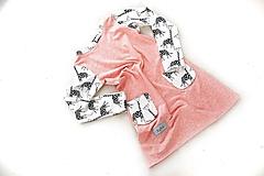 Detské oblečenie - Maia šaty salmon 116 - posledný kus! - 9868632_