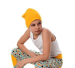 Detské čiapky - Cool čiapka yellow - 9868729_
