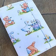 Detské doplnky - Veselá zvířátka-obal na očkovací průk.s kapsičkami - 9870942_