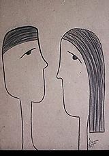 Kresby - °vzťah° /kresba uhlíkom/ - 9870639_