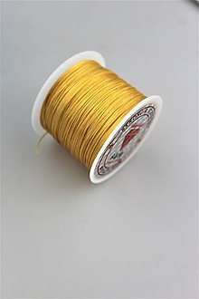 Galantéria - citrínová gumička - pruženka plochá 60-70m - 9869376_
