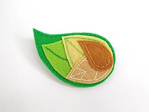 Odznaky/Brošne - Dámska brošňa (Jeseň 2.) - 9868217_