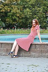 Šaty - Pruhované bambusové šaty - 9869241_