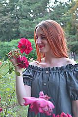Šaty - Tmavošedé ľanové šaty - 9869787_