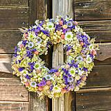 Dekorácie - Prírodný venček na dvere (s nápisom Vitajte) - 9870978_