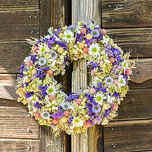 Dekorácie - Prírodný venček na dvere - 9870978_