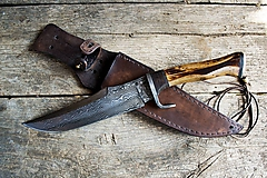 Nože - Masívny damaškový nôž - 9870305_
