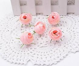 Polotovary - Púčiky ružičky 2 cm  (Ružové) - 9869809_