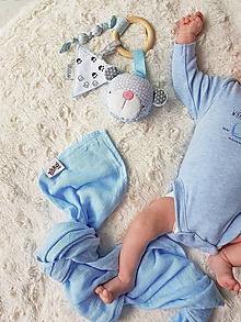 Hračky - Hrkálka / Hryzátko baby blue - 9868464_