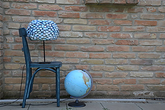 "Svietidlá a sviečky - Tienidlo na lampu ""Cesta okolo sveta"" - 9871042_"