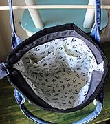 Veľké tašky - Čierna ľanová taška - 9868073_