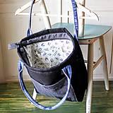 Veľké tašky - Čierna ľanová taška - 9868075_