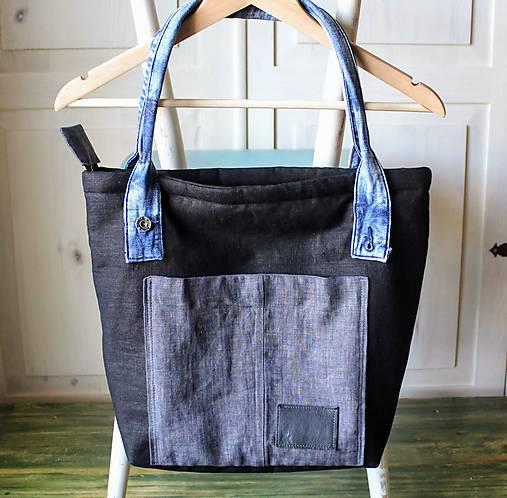 Čierna ľanová taška