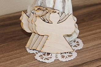 Polotovary - preglejkový výrez - anjelik 10x8,5cm - 9868681_