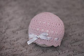 Detské čiapky - čiapočka s mašličkou - 9869928_