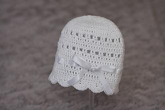 Detské čiapky - čiapočka s mašličkou - 9870826_