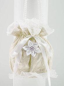 Kabelky - Pompadúrka ivory svadobná , kabelka pre nevestu 677 - 9869879_