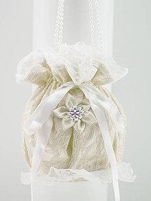 Kabelky - Pompadúrka ivory svadobná , kabelka pre nevestu 676 - 9869905_