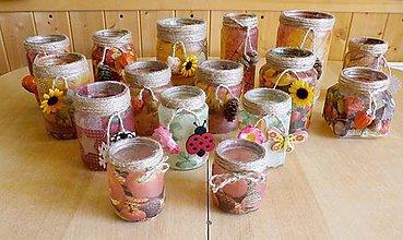 Svietidlá a sviečky - Svietničky na každé ročné obdobie - 9868631_