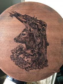 Iný materiál - Srnček (vypaľovanie do dreva) - 9870437_