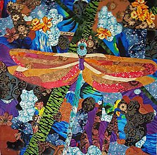 Obrazy - Textilná koláž - 9868152_