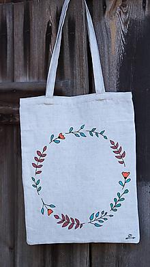 Nákupné tašky - Ľanová taška Venček - 9870388_