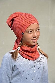 Detské súpravy - Bavlnená súprava Twist - červená - 9868170_