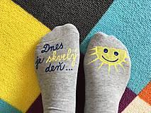Motivačné maľované ponožky s nápisom