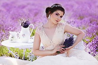 Náušnice - Svadba 2018 - svadobné náušnice s krajkou - 9870279_