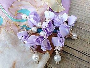 Komponenty - Textilné kvety- tanečnice - pár (Fialová) - 9870078_