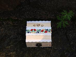 Iné doplnky - Ľudová krabička na prstene - 9868634_