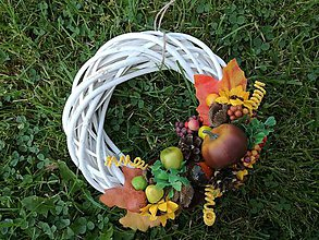 Dekorácie - Jesenný veniec. - 9868824_