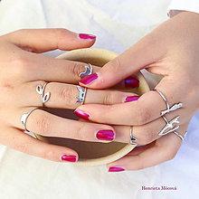 Prstene - minimalistický strieborný prsteň CUTE WILDNESS - líška mini - 9869349_