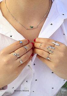 Prstene - minimalistický strieborný prsteň CUTE WILDNESS - listy - 9869363_