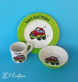 - Hrnček, miska a tanier - auto - 9870374_
