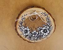 Prstene - Svadobný vankúšik-maľovaný - 9871894_
