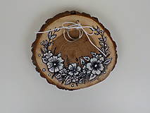 Prstene - Svadobný vankúšik-maľovaný - 9871895_