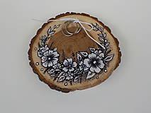 Prstene - Svadobný vankúšik-maľovaný - 9871898_