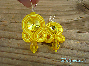 Náušnice - Simple...soutache (Yellow) - 9871681_