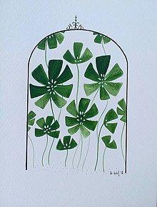 Obrazy - Skleník ilustrácia / originál maľba - 9871060_
