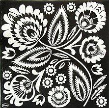 Papier - S1240 - Servítky - folk, polish folk, ľudový  motív, black and white - 9872124_