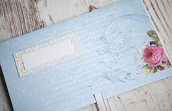 Papiernictvo - Scrapbook obálka na peniaze - svadobná - 9873293_