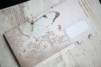 Papiernictvo - Scrapbook obálka na peniaze - vintage - 9873302_