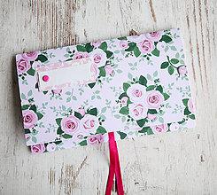 Papiernictvo - Scrapbook obálka na peniaze - ruže - 9873311_