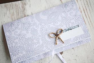 Papiernictvo - Scrapbook obálka na peniaze - fialová - 9873319_
