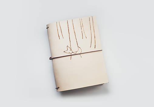 Zápisník s motívom - líška