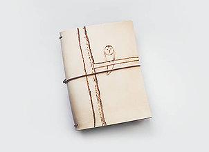 Papiernictvo - Zápisník s motívom - Sova - 9873378_