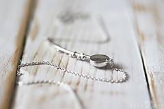 Náhrdelníky - Strieborný náhrdelník s kremeňom - Bokeh Quartz - 9873113_