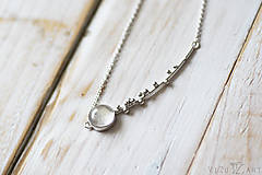 Náhrdelníky - Strieborný náhrdelník s kremeňom - Bokeh Quartz - 9873115_